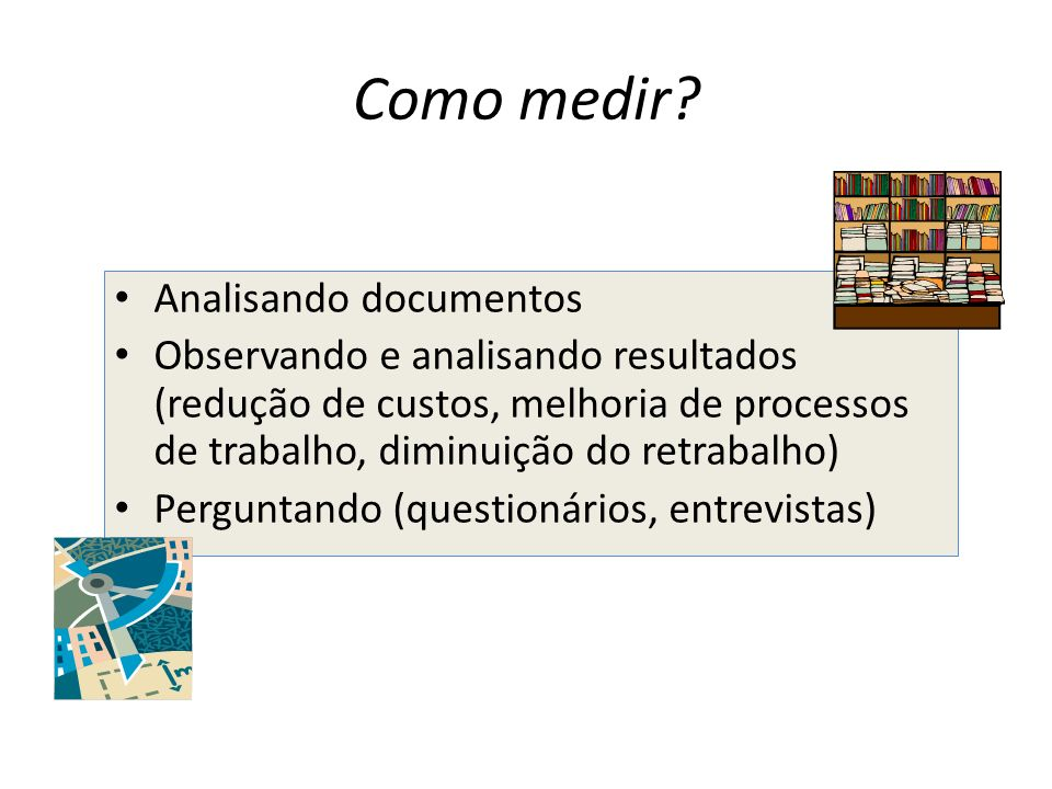 Como medir Analisando documentos
