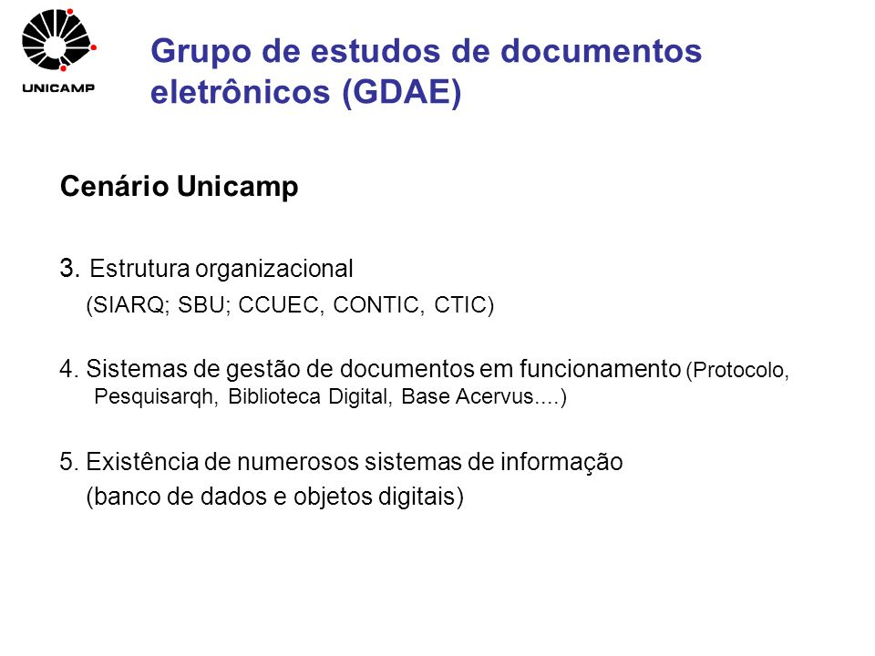 Grupo de estudos de documentos eletrônicos (GDAE)