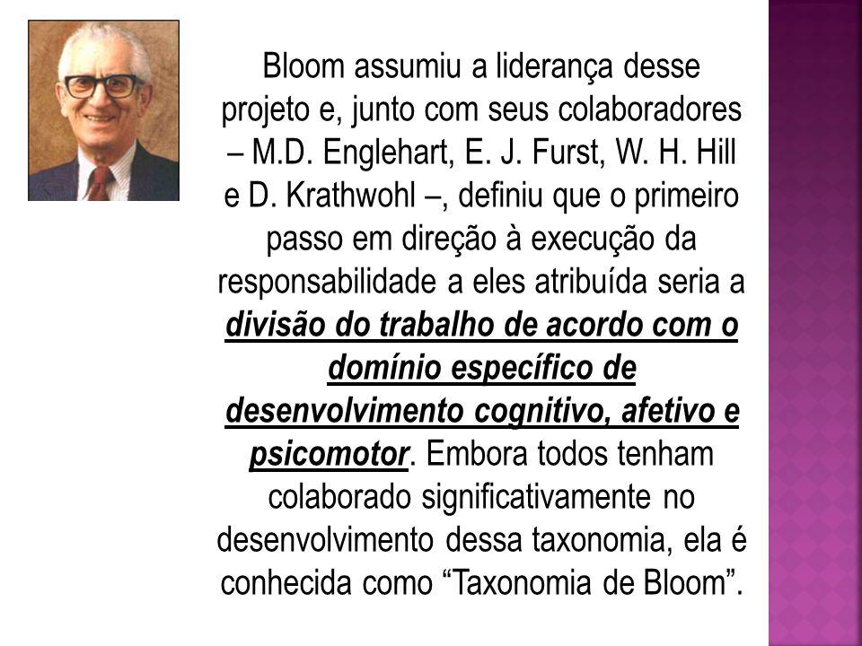 Bloom assumiu a liderança desse projeto e, junto com seus colaboradores – M.D.