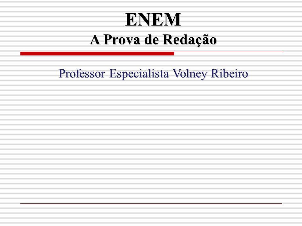 Professor Especialista Volney Ribeiro
