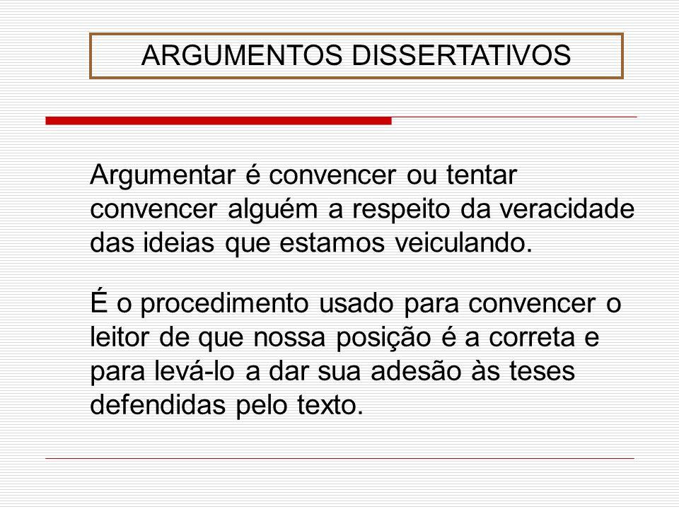 ARGUMENTOS DISSERTATIVOS