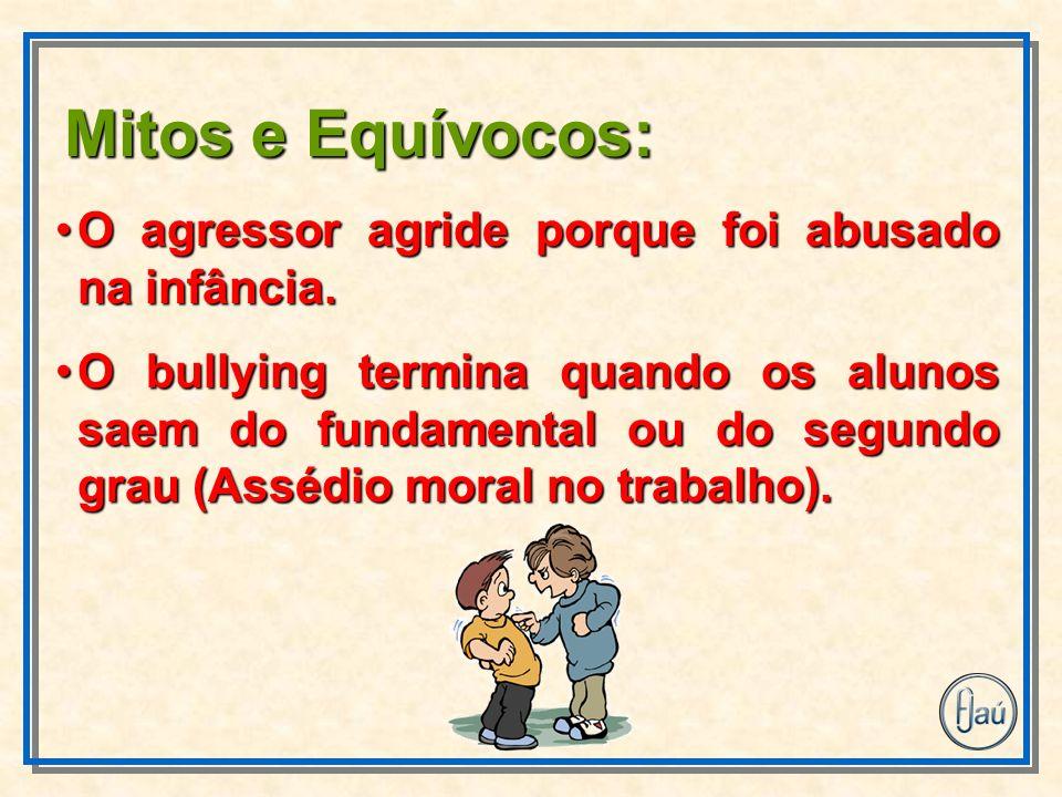 Mitos e Equívocos: O agressor agride porque foi abusado na infância.