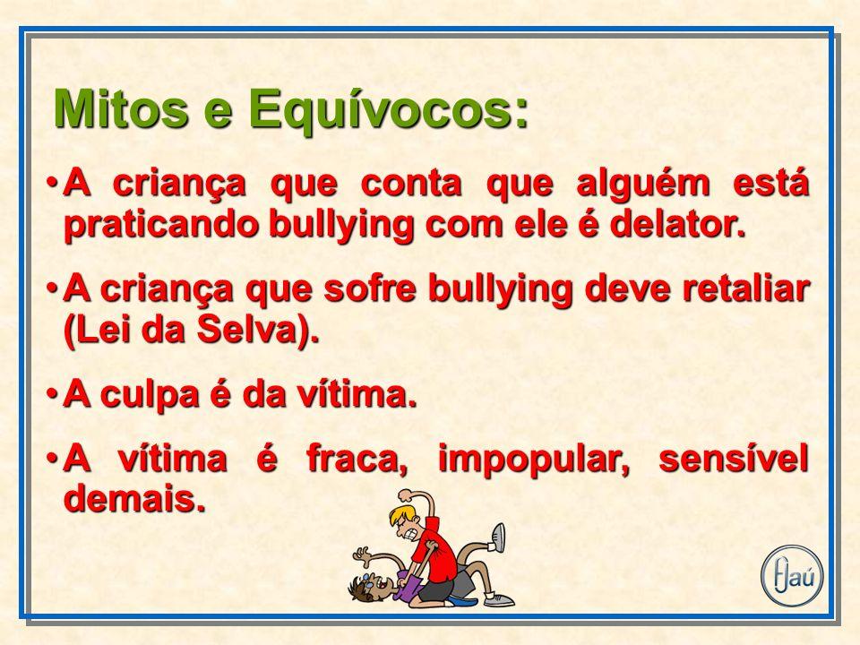 A criança que conta que alguém está praticando bullying com ele é delator.