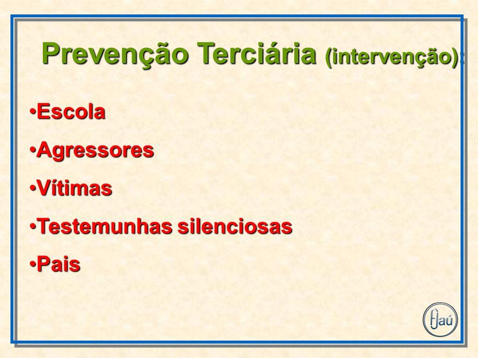 Prevenção Terciária (intervenção):