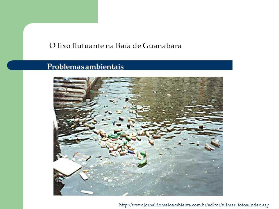 O lixo flutuante na Baía de Guanabara