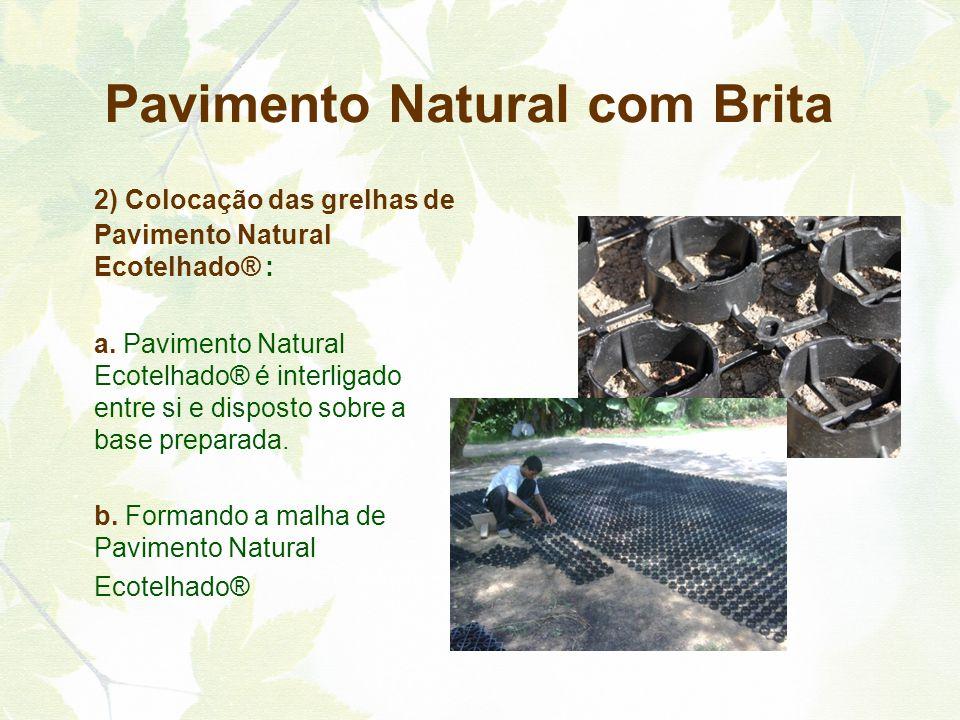 Pavimento Natural com Brita