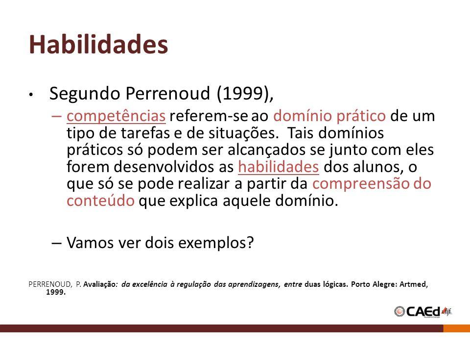 Habilidades Segundo Perrenoud (1999),