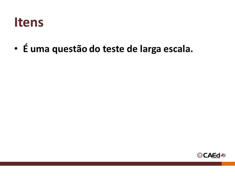 Itens É uma questão do teste de larga escala.