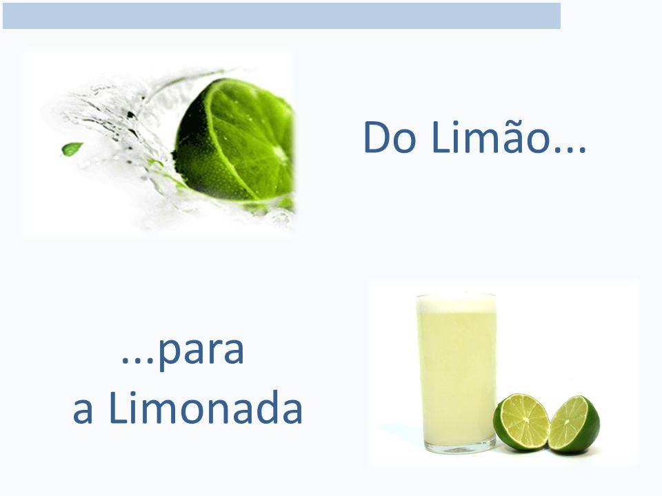 Do Limão... ...para a Limonada