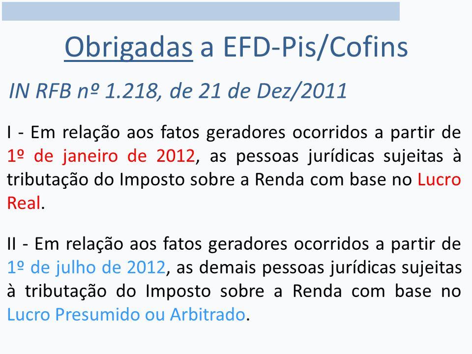 Obrigadas a EFD-Pis/Cofins