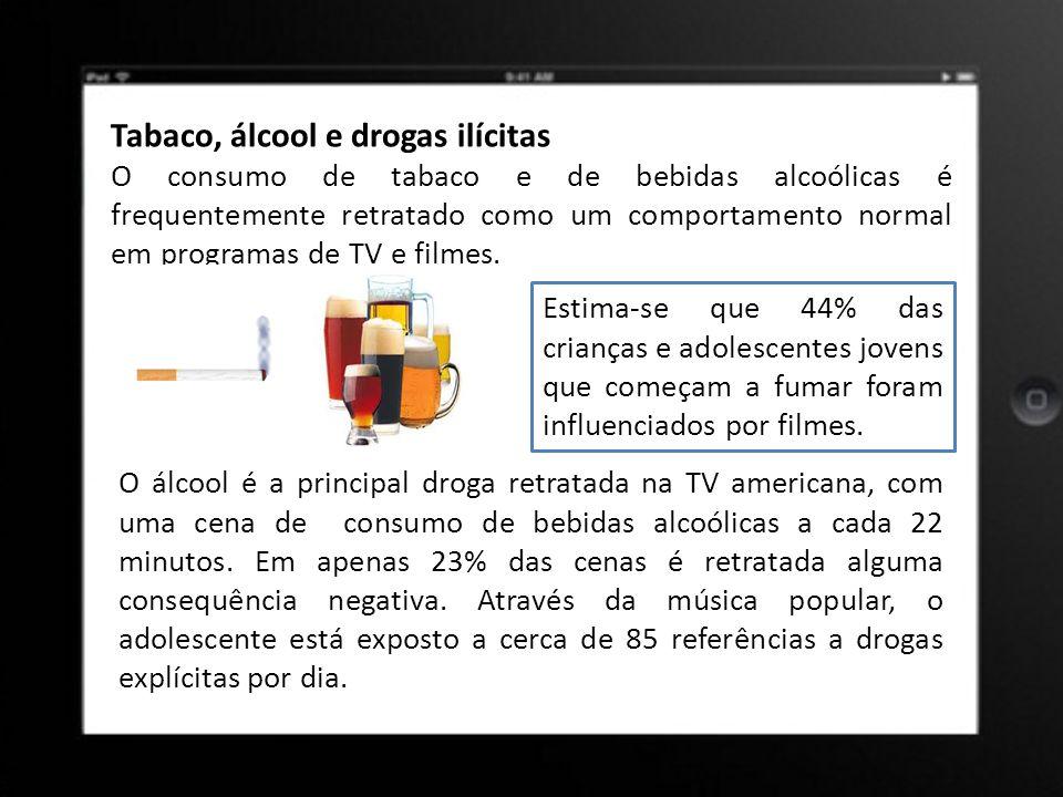 Tabaco, álcool e drogas ilícitas