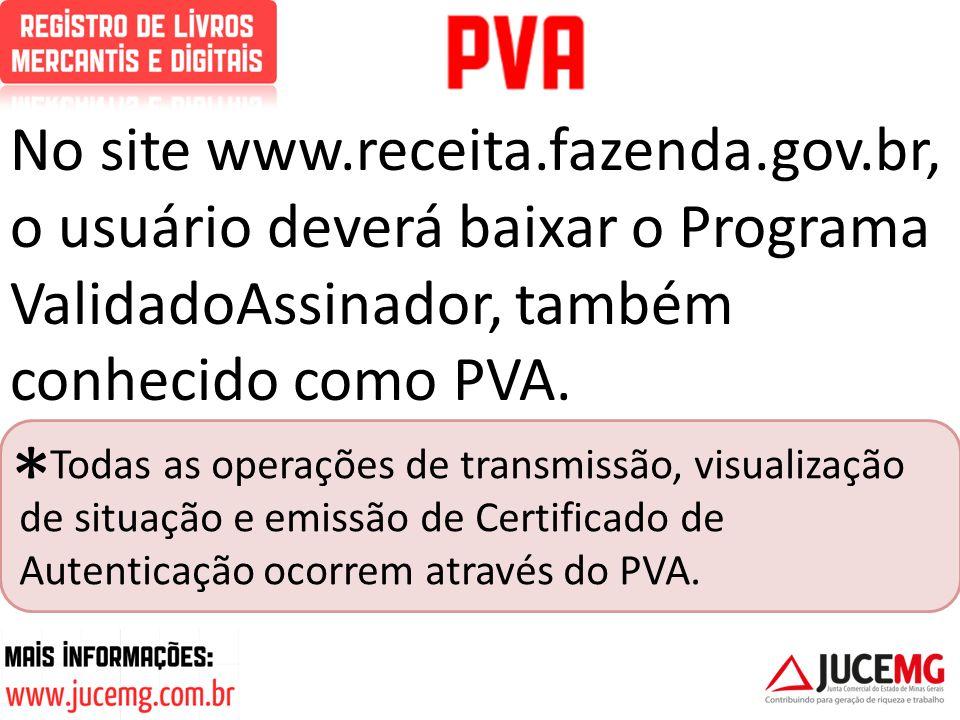No site www. receita. fazenda. gov