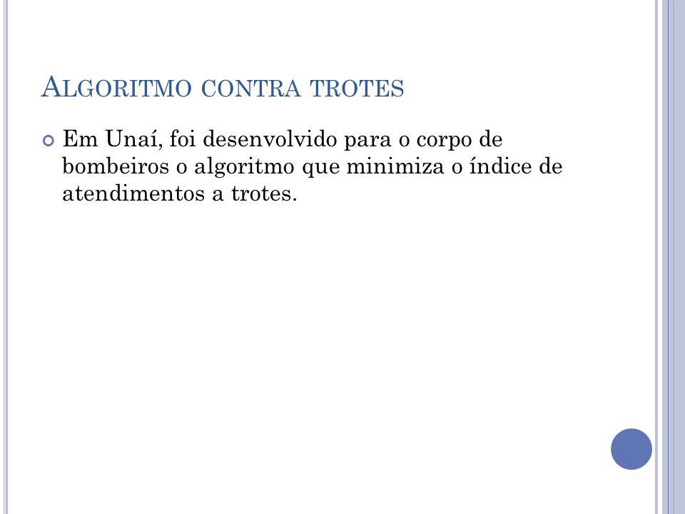 Algoritmo contra trotes