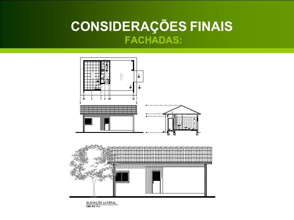 CONSIDERAÇÕES FINAIS FACHADAS: