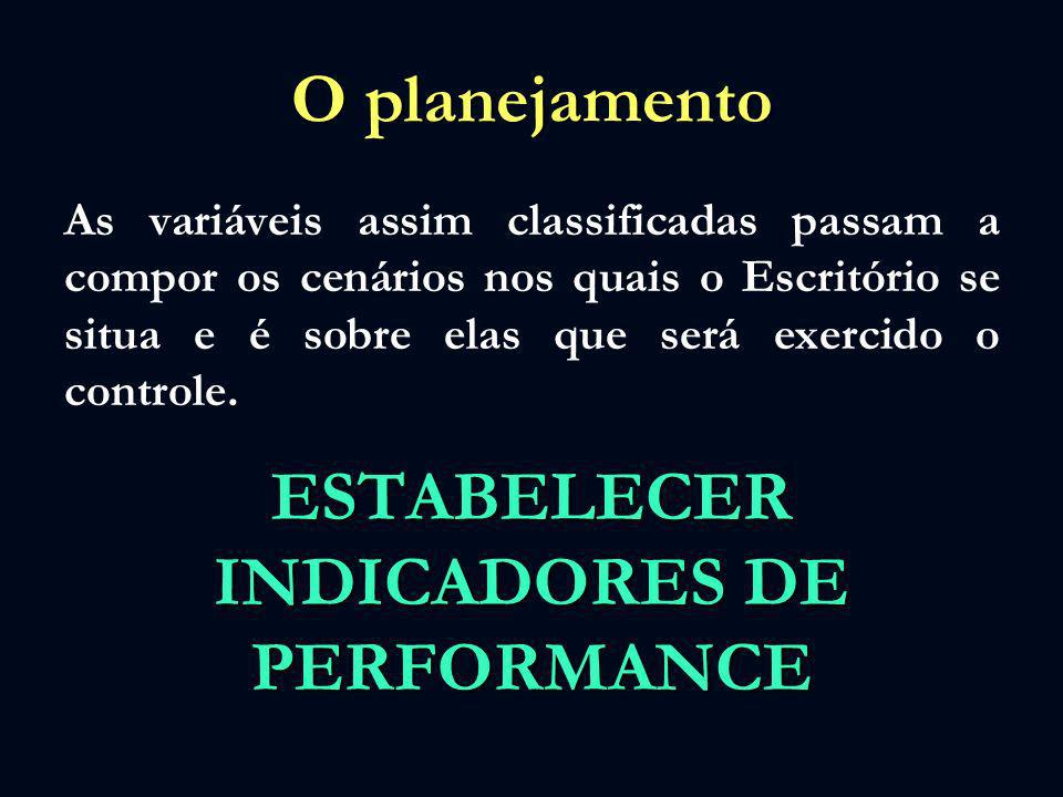 ESTABELECER INDICADORES DE PERFORMANCE