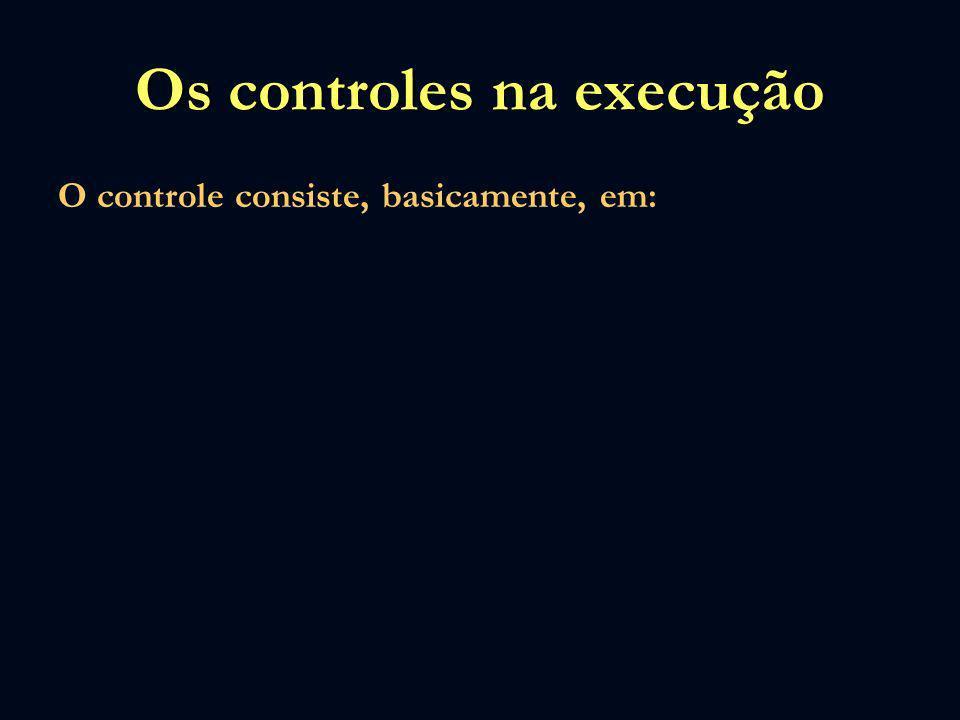 Os controles na execução