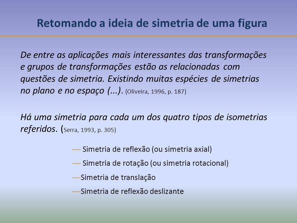 Retomando a ideia de simetria de uma figura