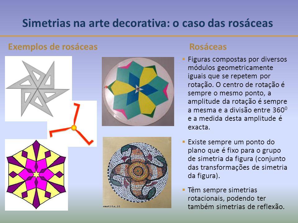 Simetrias na arte decorativa: o caso das rosáceas