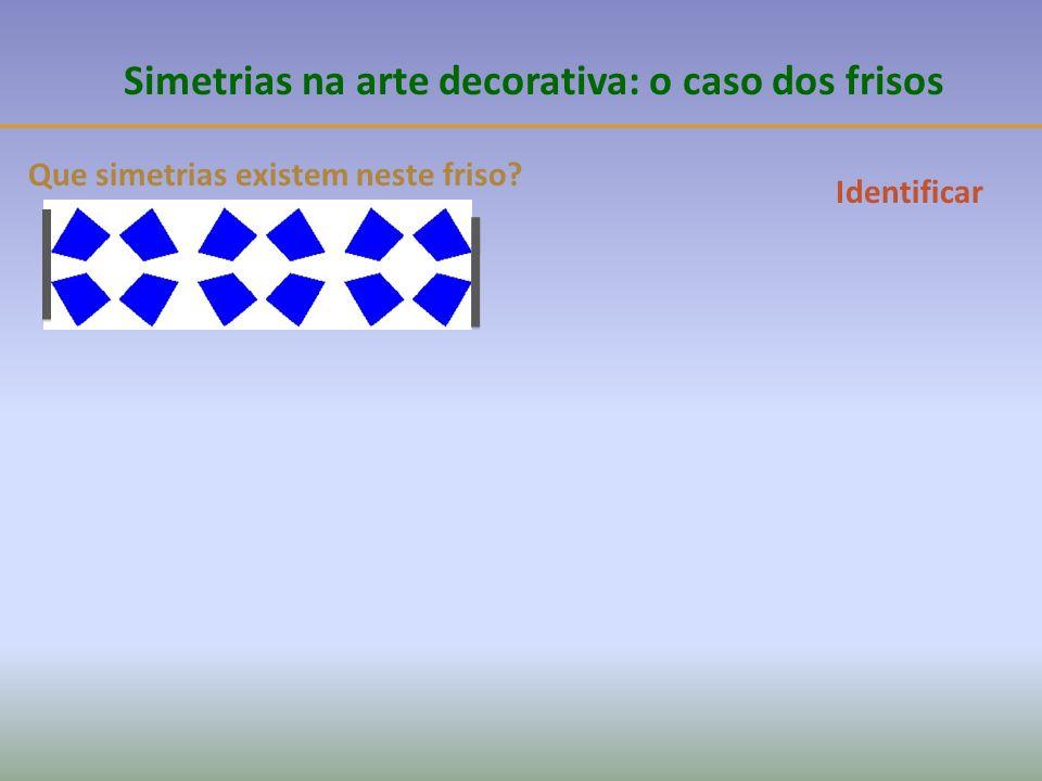 Simetrias na arte decorativa: o caso dos frisos