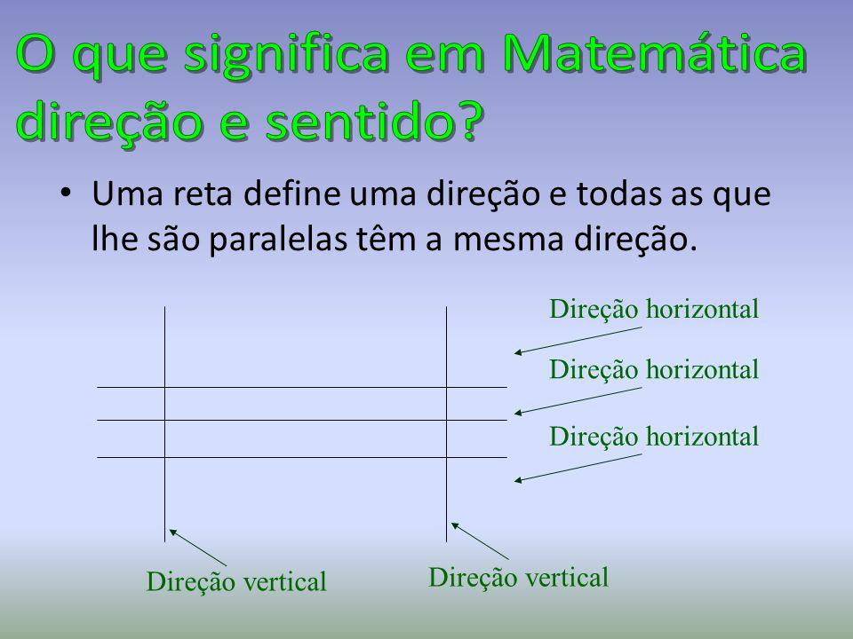 O que significa em Matemática direção e sentido