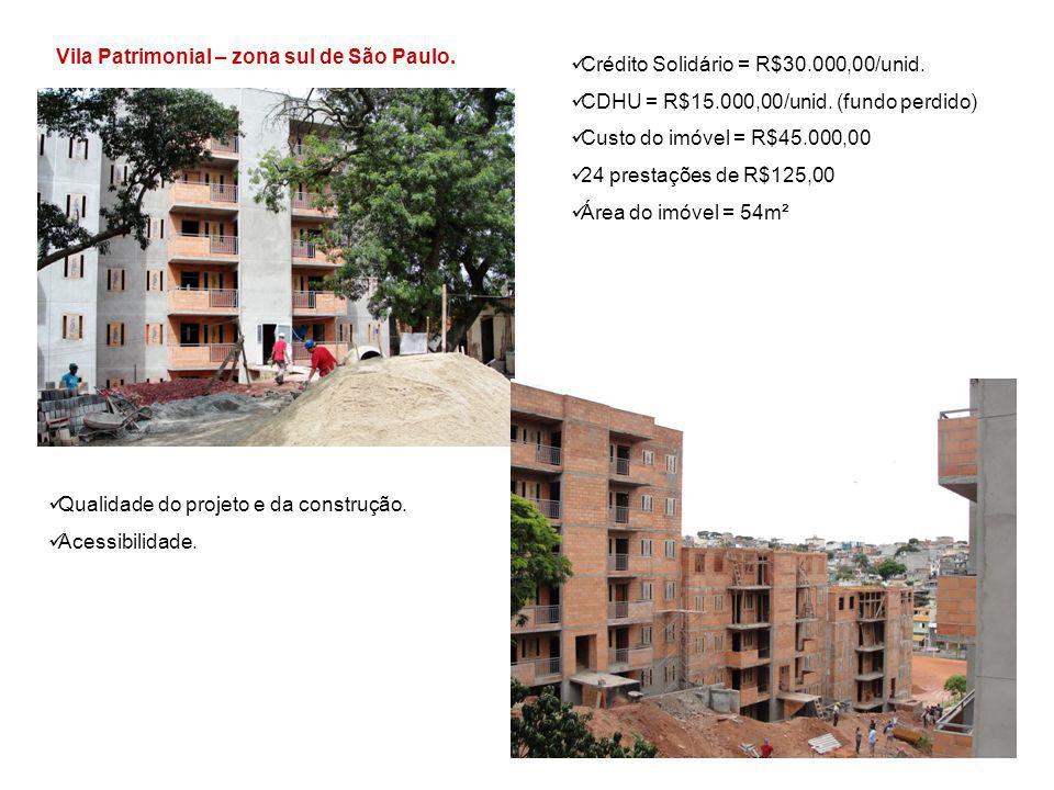 Vila Patrimonial – zona sul de São Paulo.