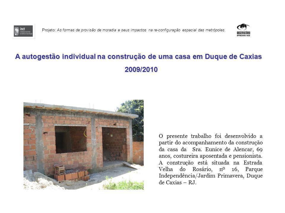 A autogestão individual na construção de uma casa em Duque de Caxias