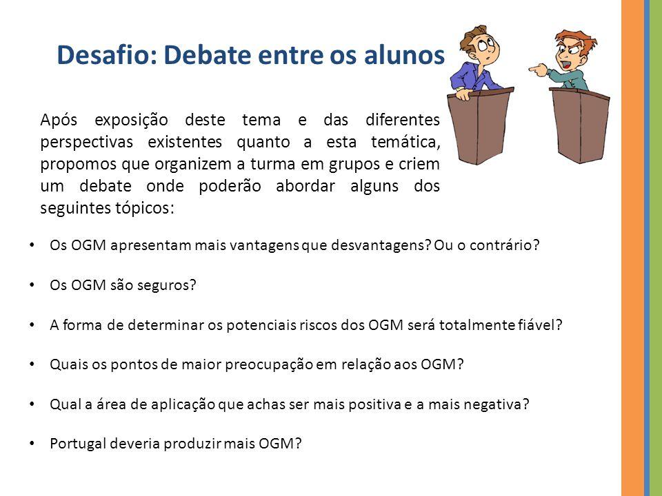 Desafio: Debate entre os alunos