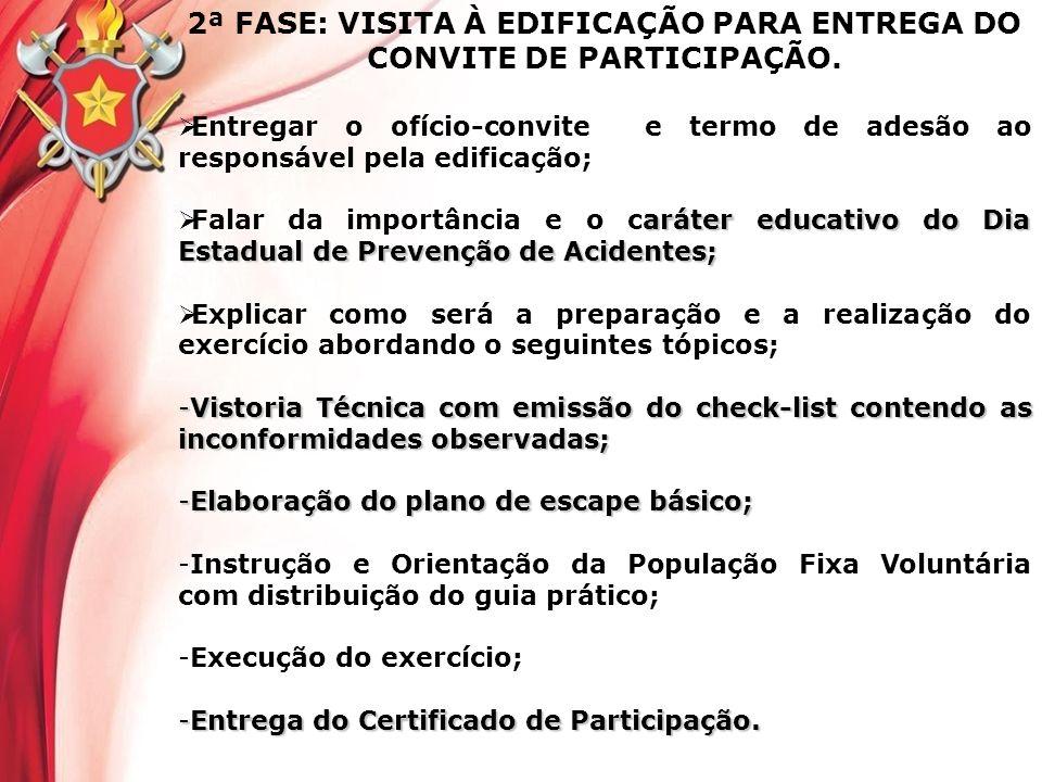 2ª FASE: VISITA À EDIFICAÇÃO PARA ENTREGA DO CONVITE DE PARTICIPAÇÃO.