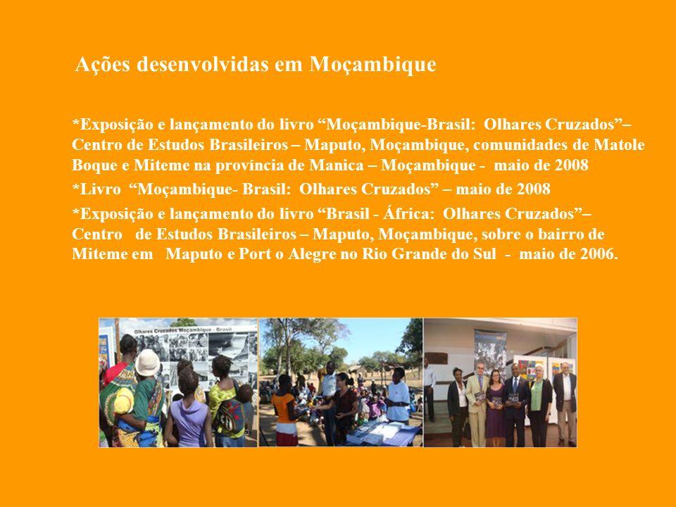 Ações desenvolvidas em Moçambique