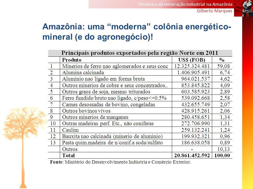 Amazônia: uma moderna colônia energético-mineral (e do agronegócio)!