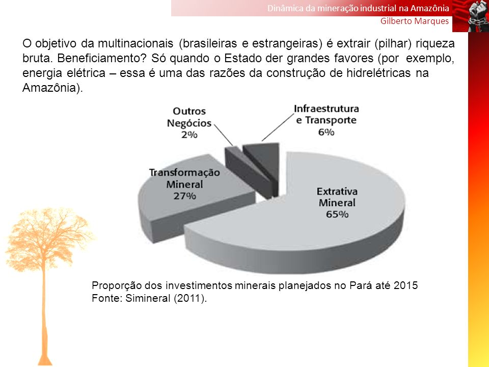 Dinâmica da mineração industrial na Amazônia