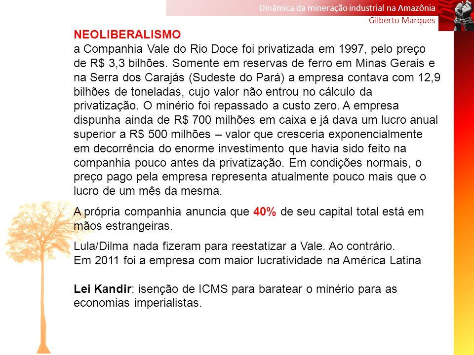 Lula/Dilma nada fizeram para reestatizar a Vale. Ao contrário.