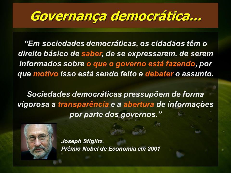 Governança democrática...