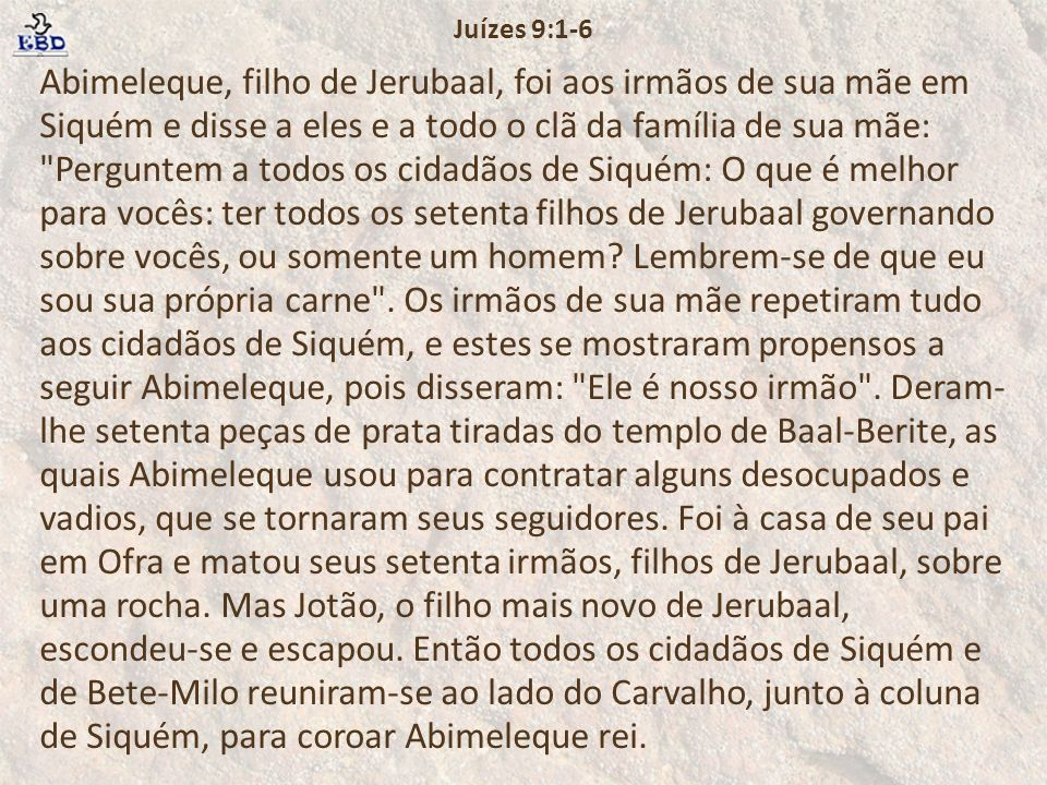 Juízes 9:1-6