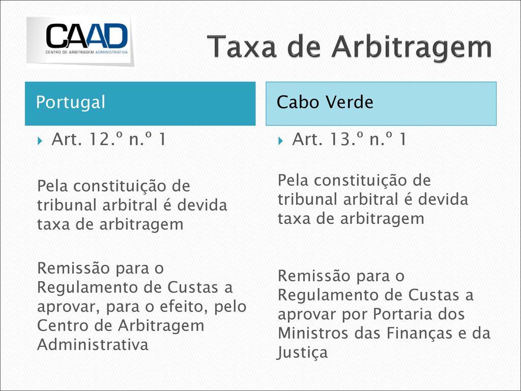 Arbitragem Tributária: a experiência portuguesa - ppt carregar