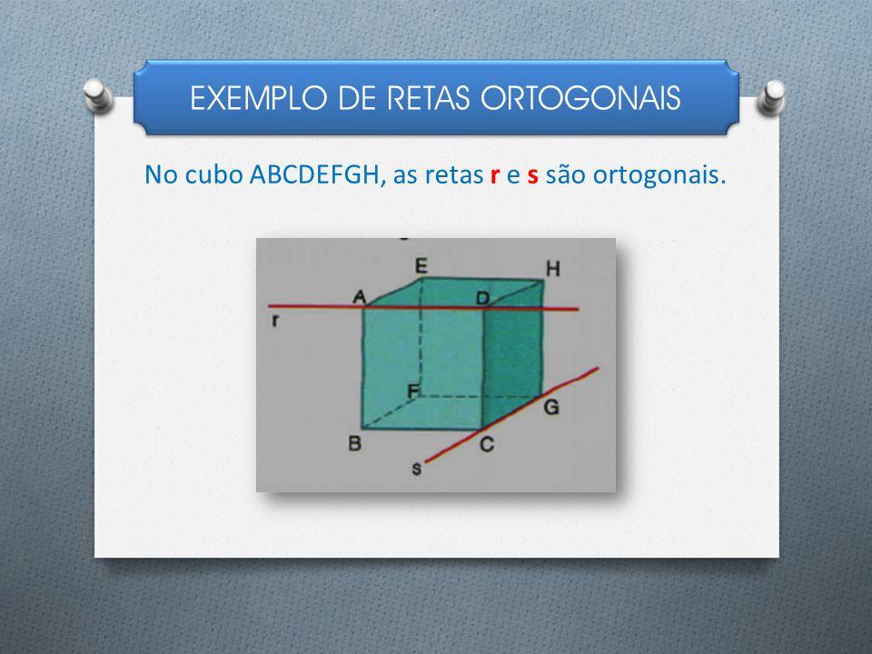 EXEMPLO DE RETAS ORTOGONAIS