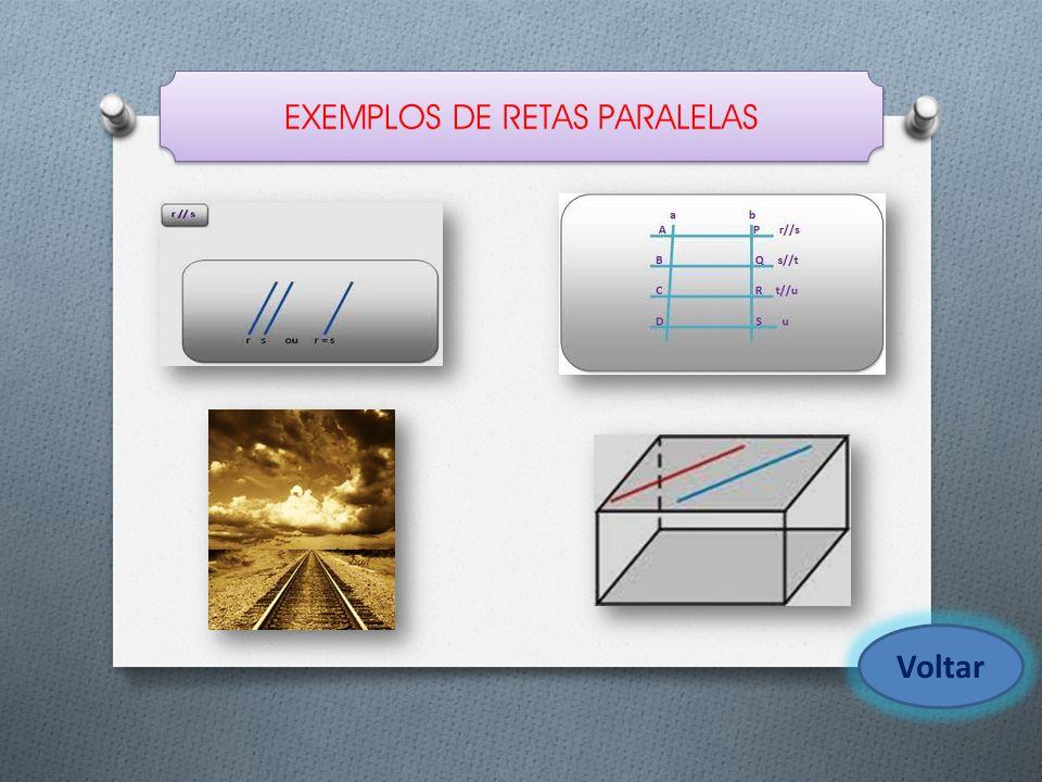 EXEMPLOS DE RETAS PARALELAS