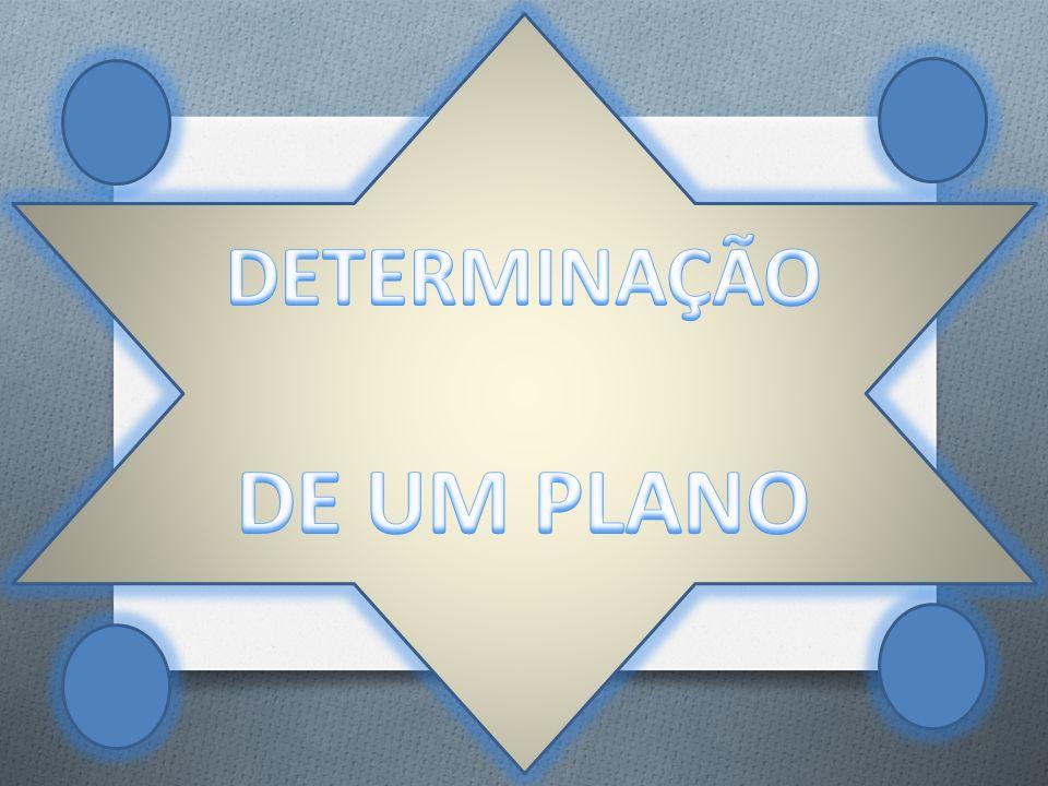 DETERMINAÇÃO DE UM PLANO