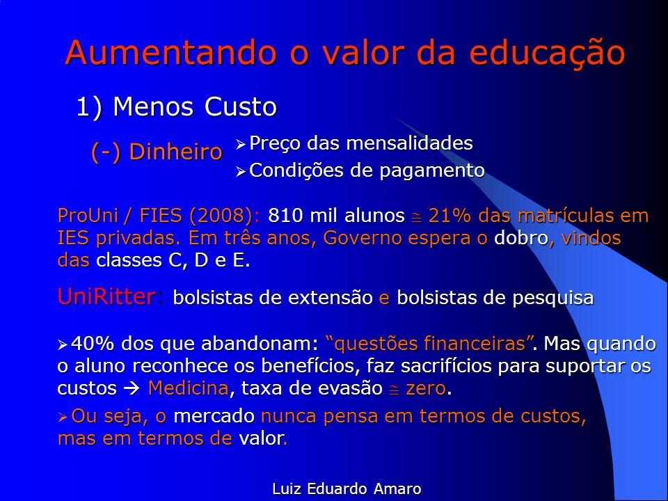 Aumentando o valor da educação