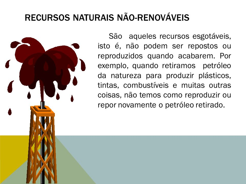 Recursos naturais não-renováveis