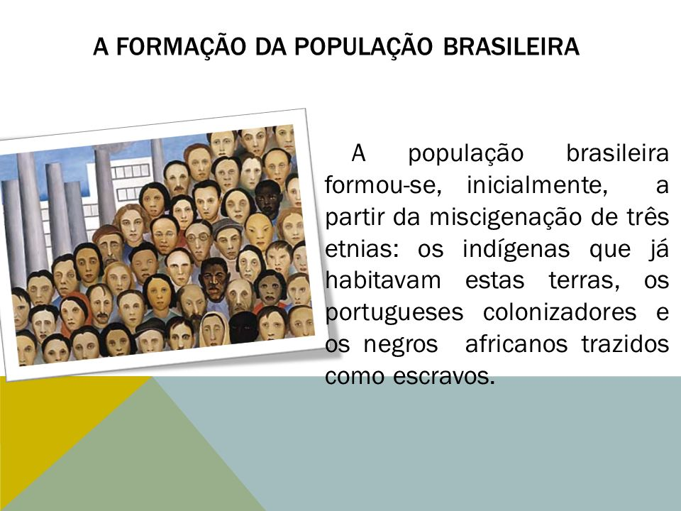 A formação da População Brasileira