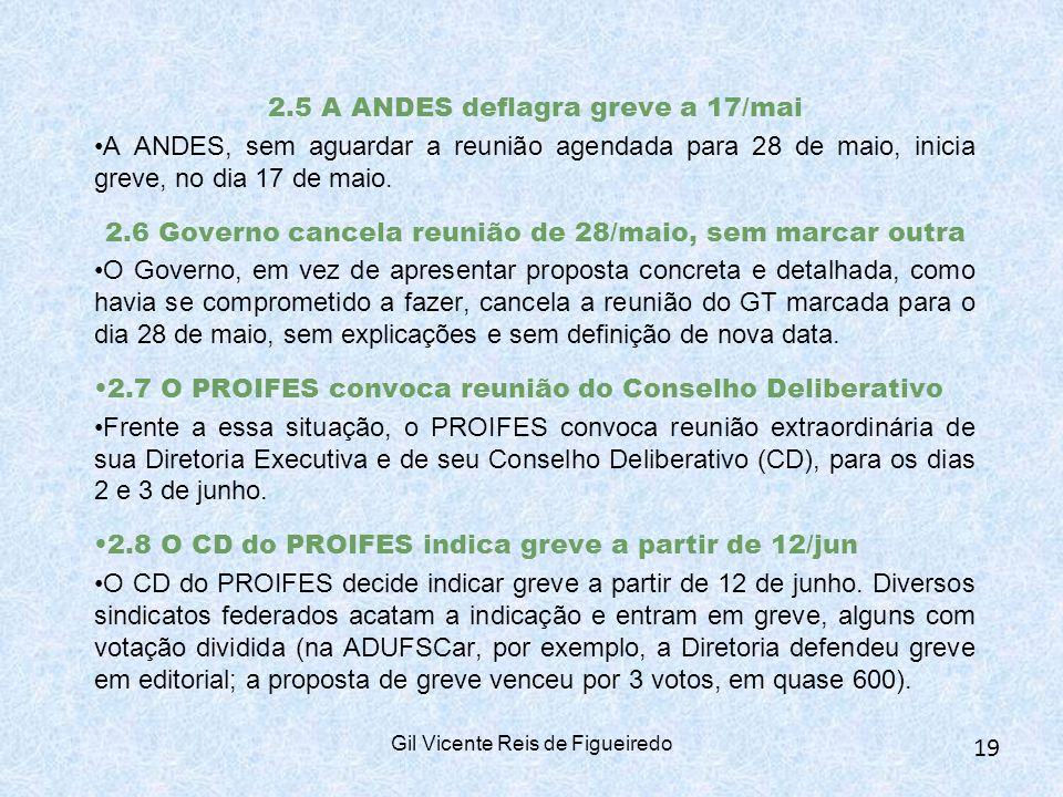 2.5 A ANDES deflagra greve a 17/mai