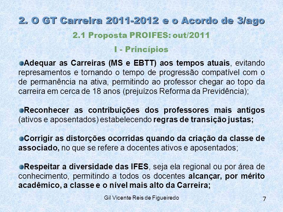 2. O GT Carreira 2011-2012 e o Acordo de 3/ago