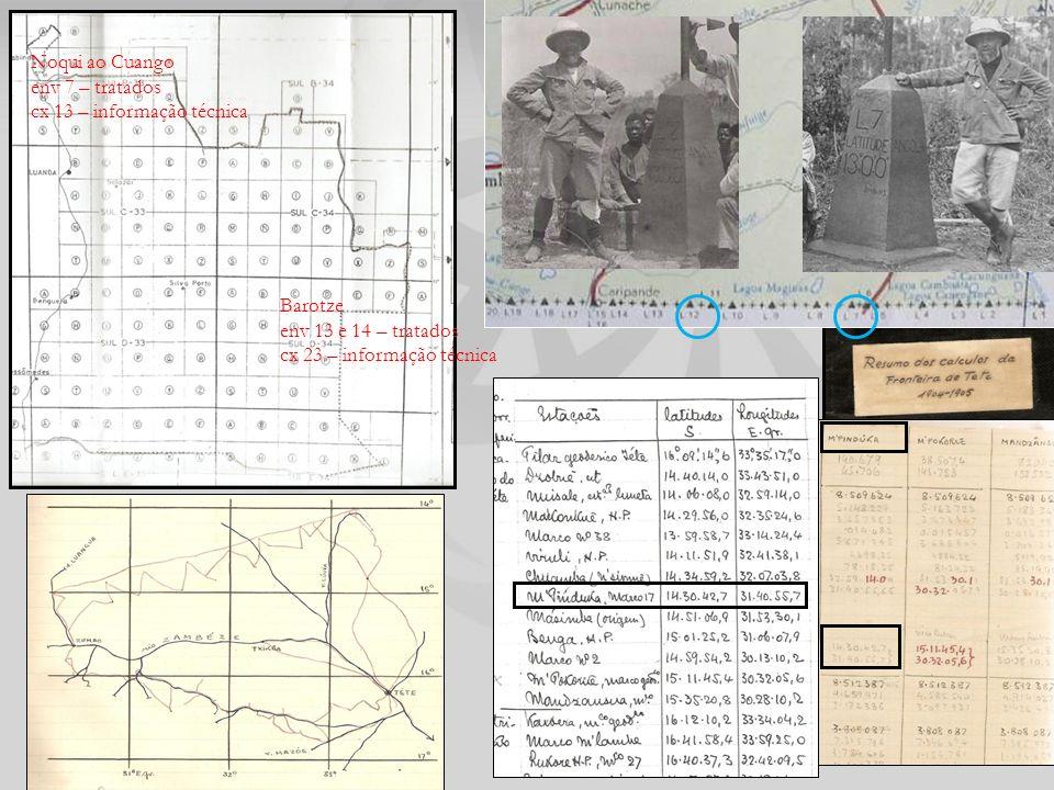 Barotze env 13 e 14 – tratados. cx 23 – informação técnica.