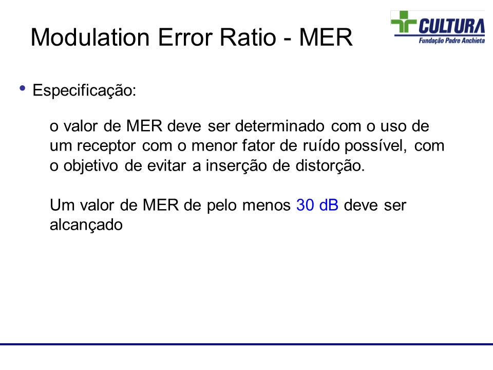 Modulation Error Ratio - MER