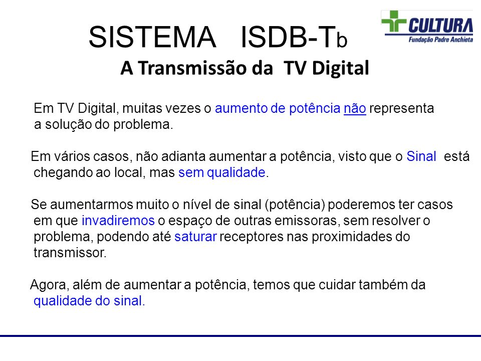 A Transmissão da TV Digital