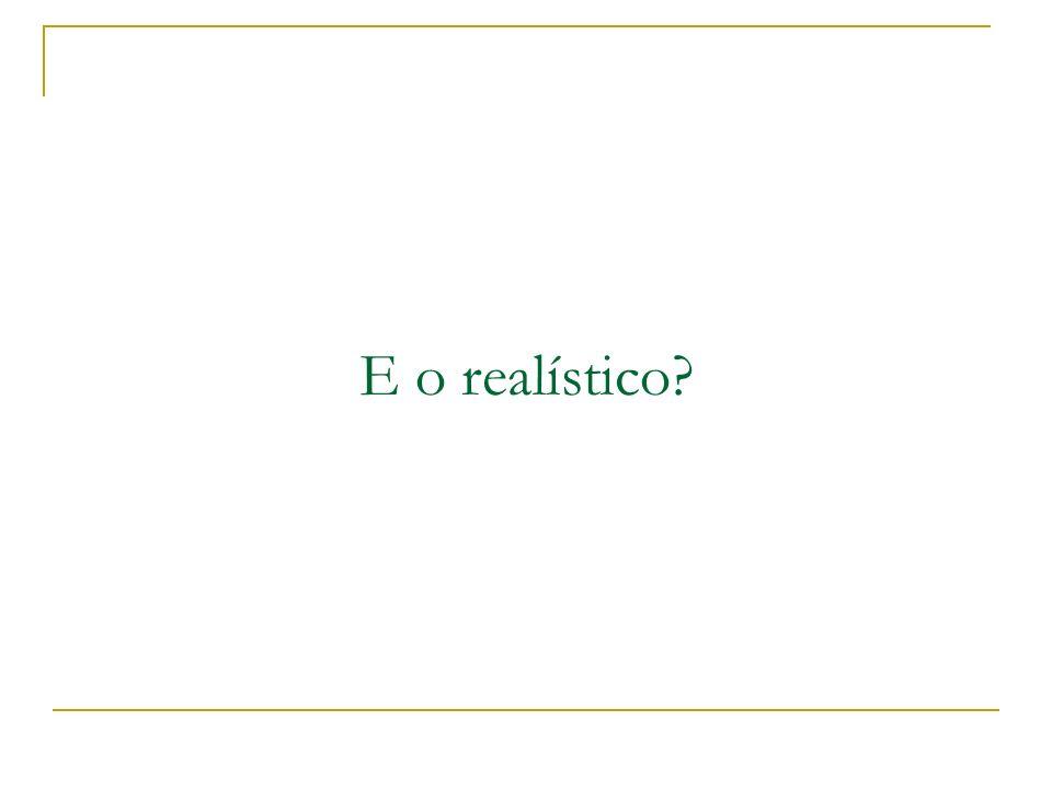 E o realístico