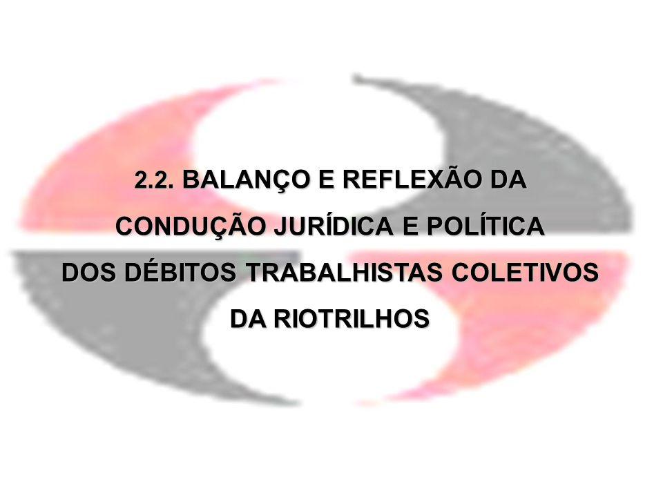CONDUÇÃO JURÍDICA E POLÍTICA DOS DÉBITOS TRABALHISTAS COLETIVOS