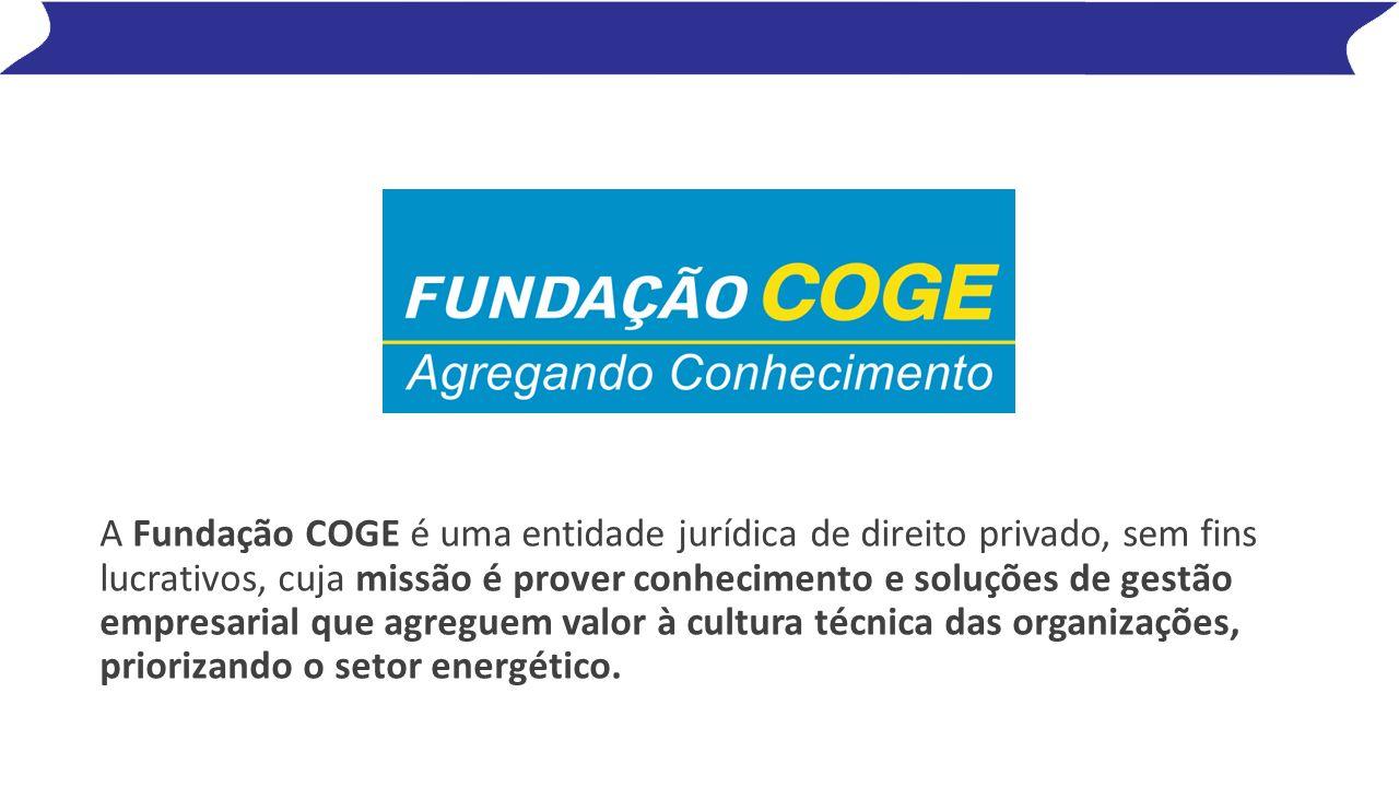 A Fundação COGE é uma entidade jurídica de direito privado, sem fins lucrativos, cuja missão é prover conhecimento e soluções de gestão empresarial que agreguem valor à cultura técnica das organizações, priorizando o setor energético.
