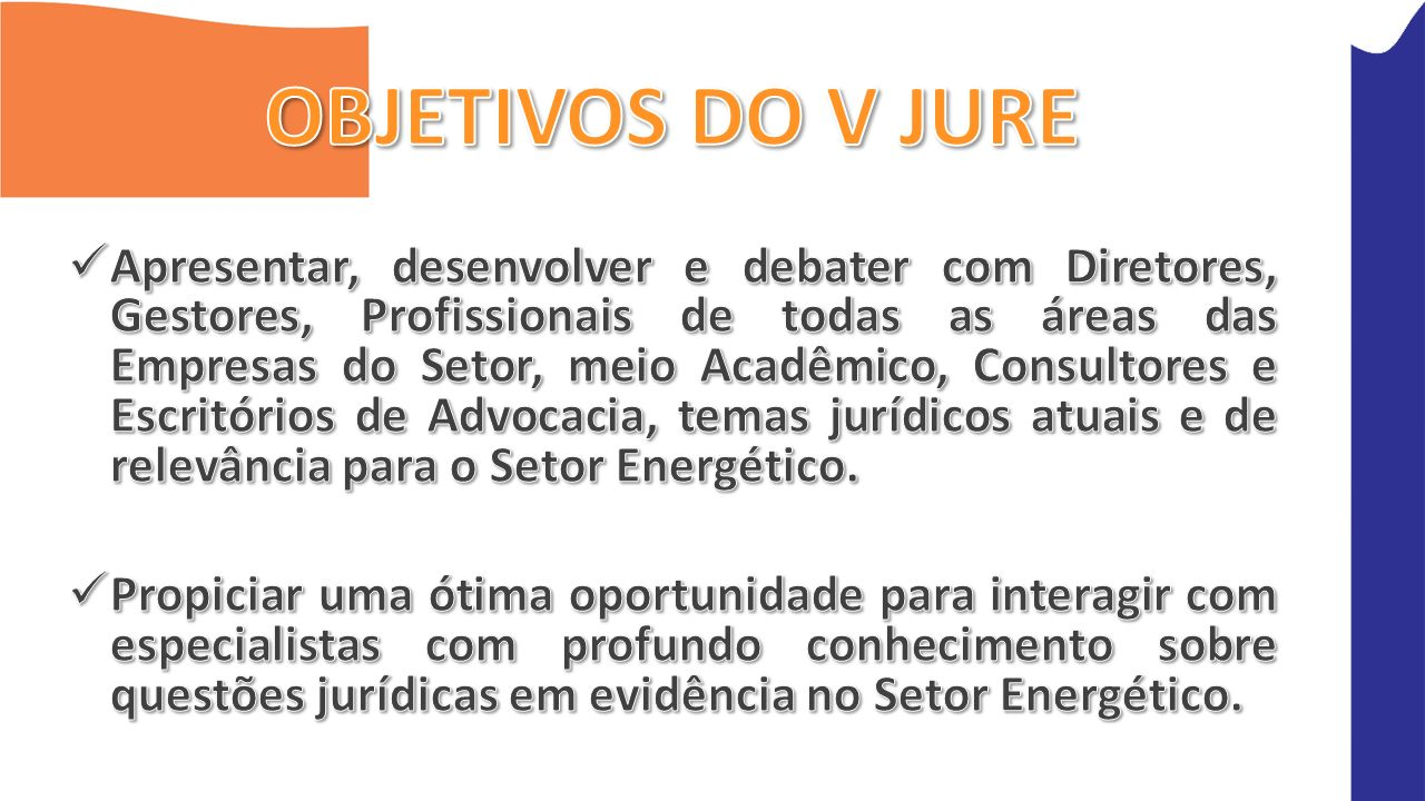 OBJETIVOS DO V JURE